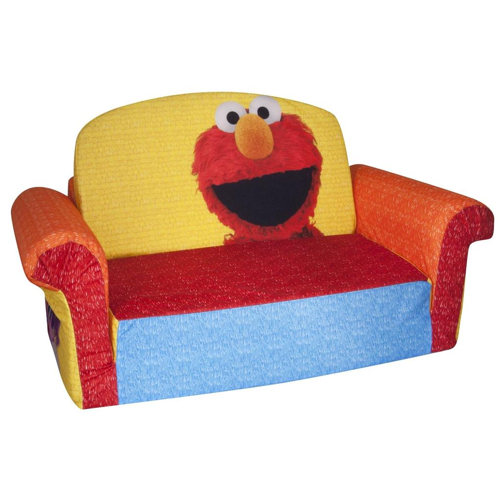 Spin master marshmallow furniture flip open sofa elmo for Kid sized furniture