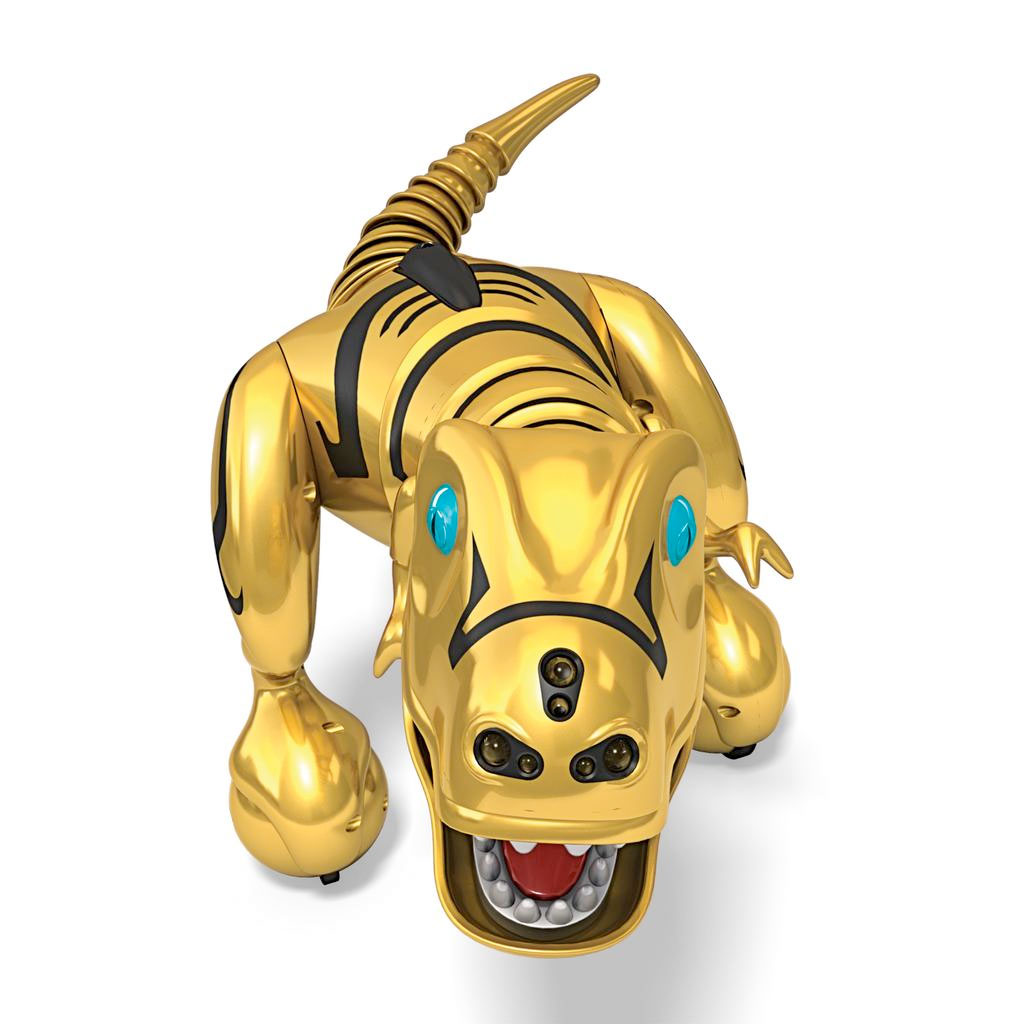 Spin master zoomer zoomer dino limited edition metallic gold finish